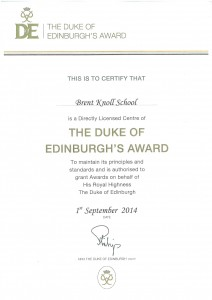 Duke of Edinburgh Award Accreditation