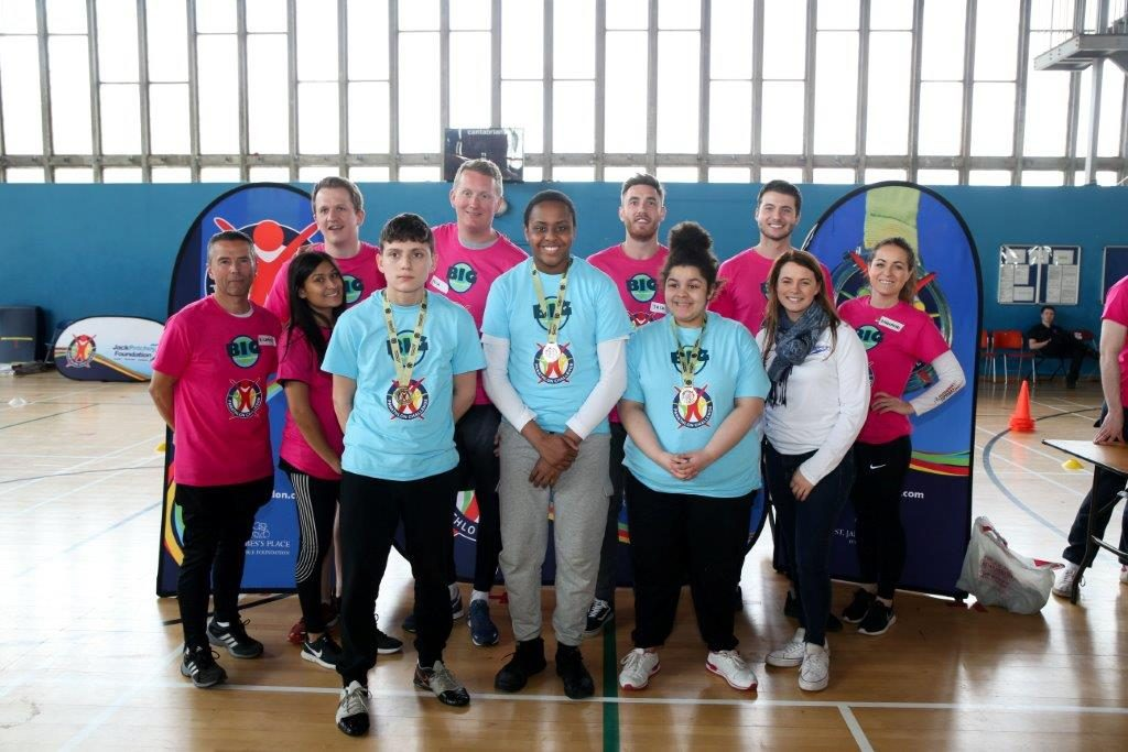 Winning Boccia team at the Panathlon with Liz Johnson GB Paralympic Gold Medallist & The Big Investigo Give Team